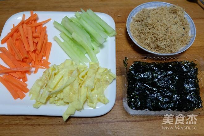 肉松饭团的简单做法