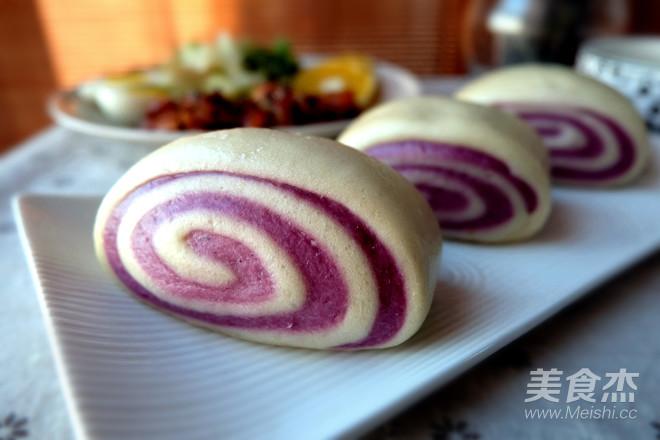 紫薯双色馒头怎么炒