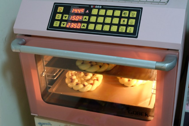 蔓越莓花环面包的制作大全