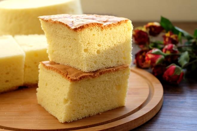 古早蛋糕(6寸圆模2个)的步骤