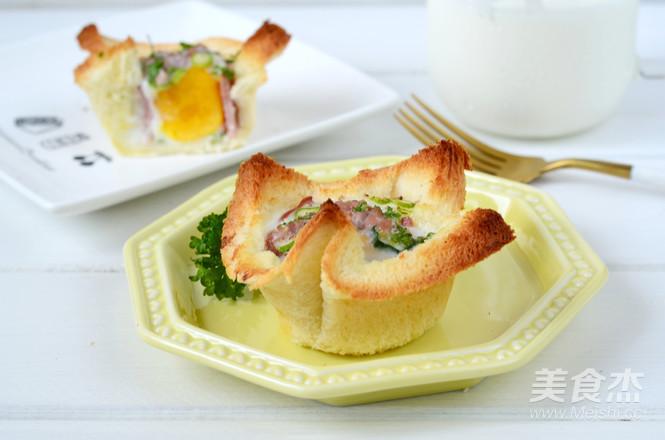 蔬菜鸡蛋烤吐司成品图