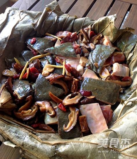 荷叶蒸甲鱼怎么吃