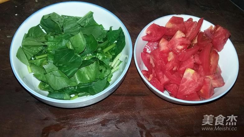 西红柿菠菜炒鸡蛋的做法图解