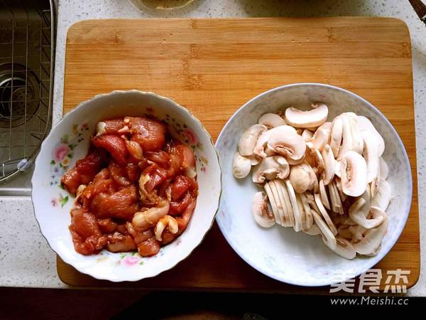 蘑菇炒肉片的家常做法