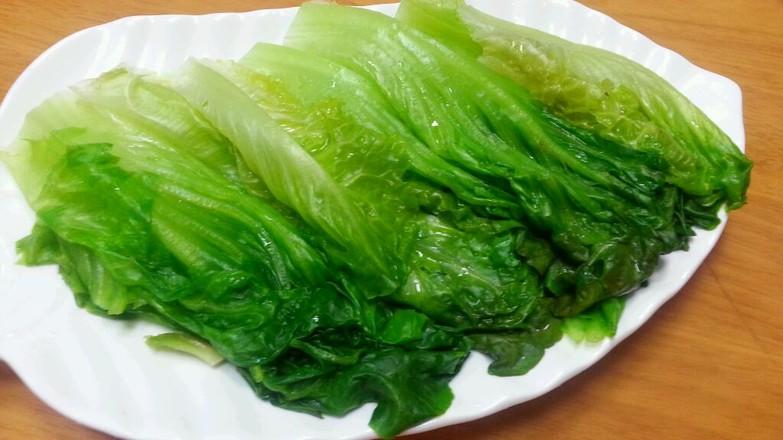蒜蓉酱油白灼生菜的家常做法