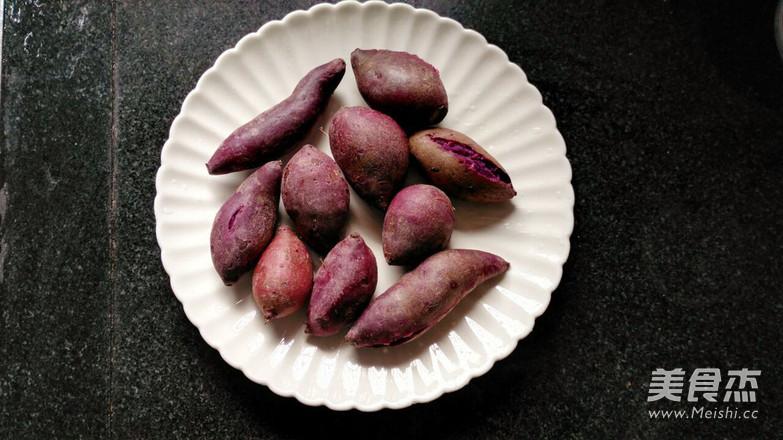 紫薯椰蓉球的步骤