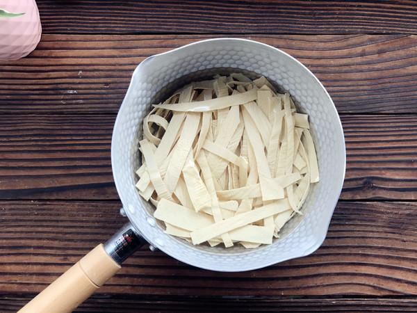 凉拌豆皮的简单做法