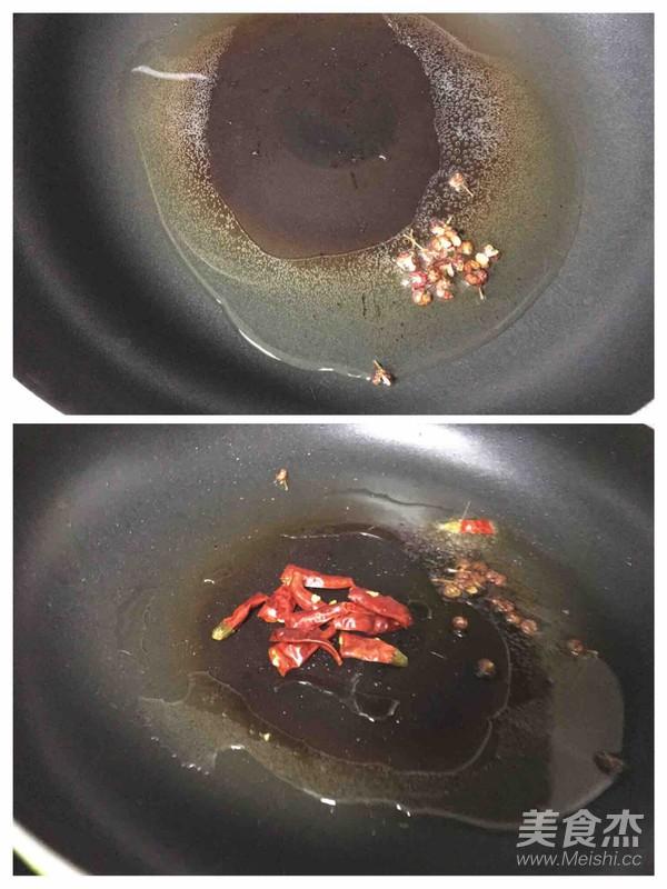 干辣椒菠菜炒粉丝的家常做法