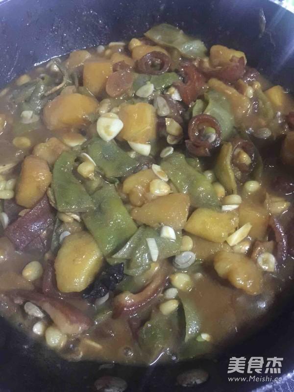 豆角土豆炖玉米怎么煮