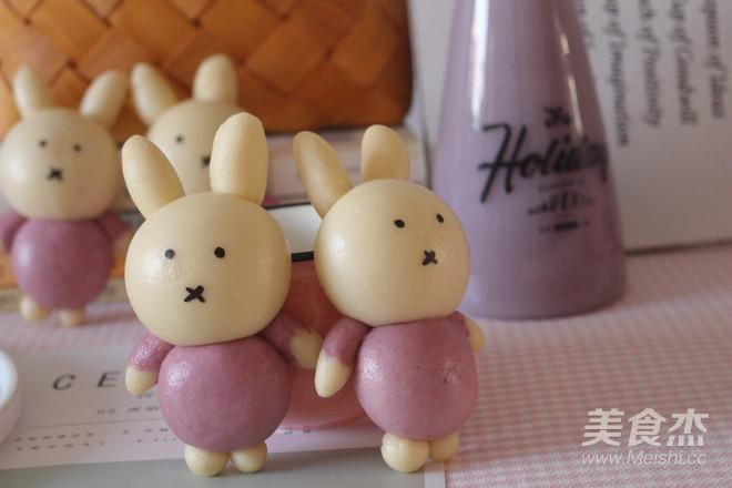 米菲兔馒头的制作