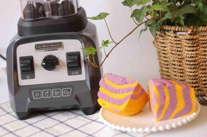 南瓜紫薯双色发糕的做法大全