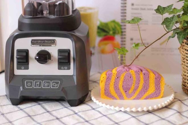 南瓜紫薯双色发糕的制作大全