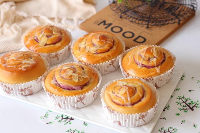 香芋紫薯面包卷的制作大全