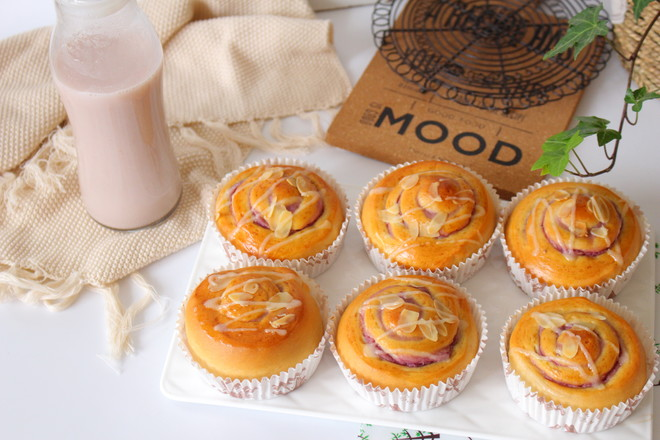 香芋紫薯面包卷的做法大全