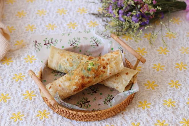 葱油鸡蛋灌饼的制作