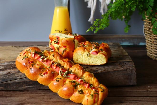 南瓜香肠面包的做法大全