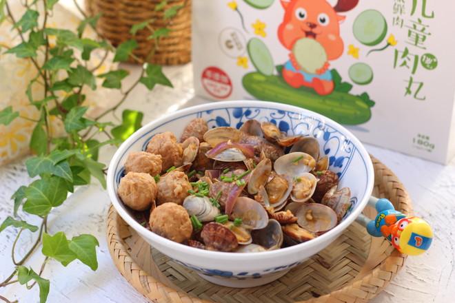 花蛤炒肉丸怎样煮