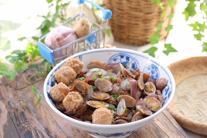 花蛤炒肉丸的做法大全