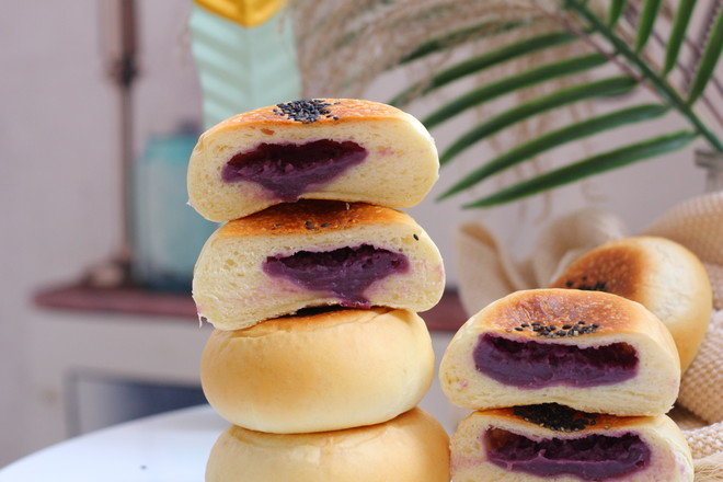 香芋紫薯包的做法大全