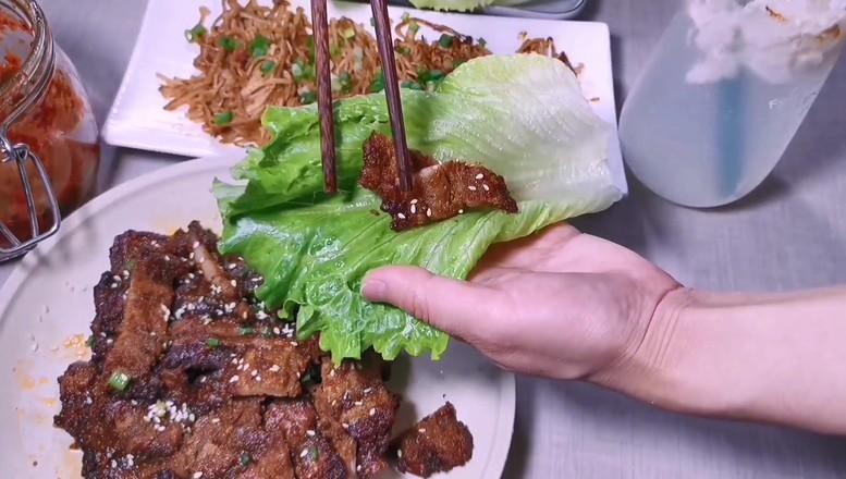 韩式烤五花肉成品图