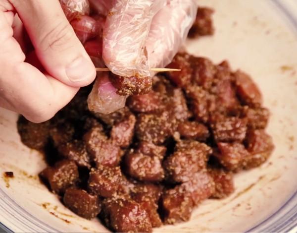 牙签牛肉的步骤