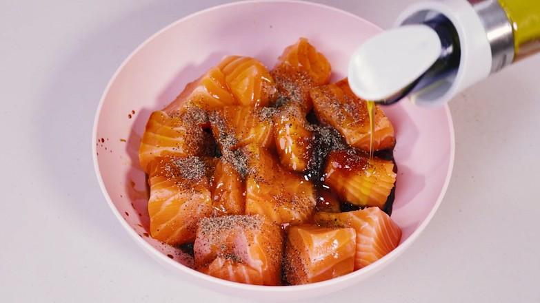 蜜汁三文鱼的做法图解