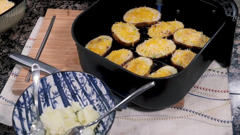 空气炸锅烤土豆皮怎么吃