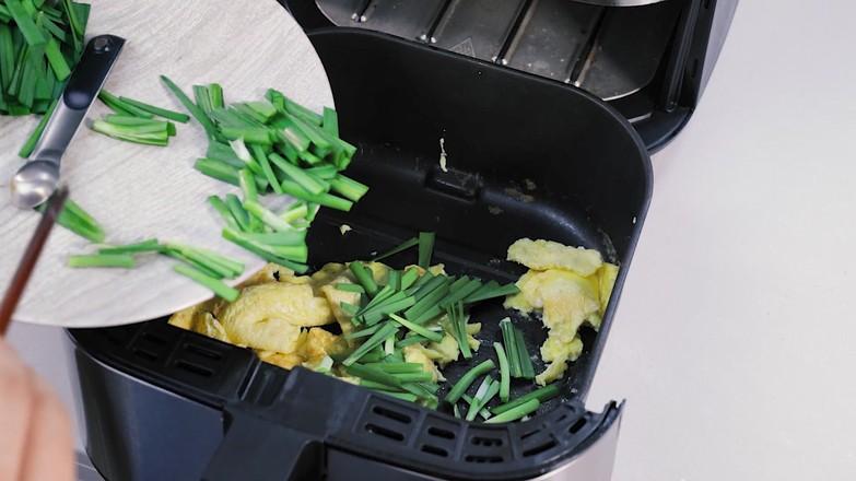 空气炸锅版韭菜炒鸡蛋怎么吃