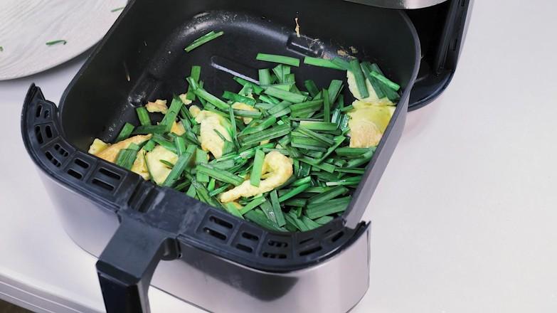 空气炸锅版韭菜炒鸡蛋怎么做