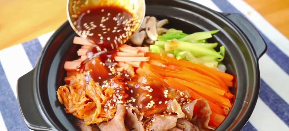 韩式肥牛拌饭怎么吃