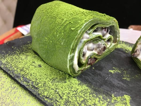 ins风网红抹茶毛巾卷(红豆、香蕉味)的制作
