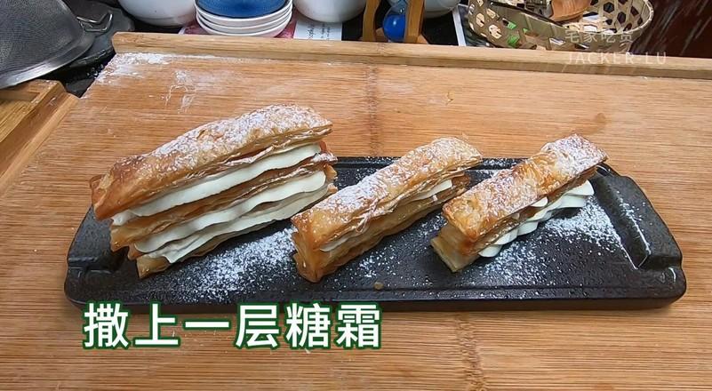 拿破仑手抓饼千层酥,一口酥脆,一口满足。怎么做