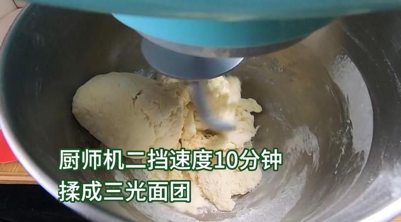 超柔软淡奶油面包,松软可口,奶香味十足。的做法图解
