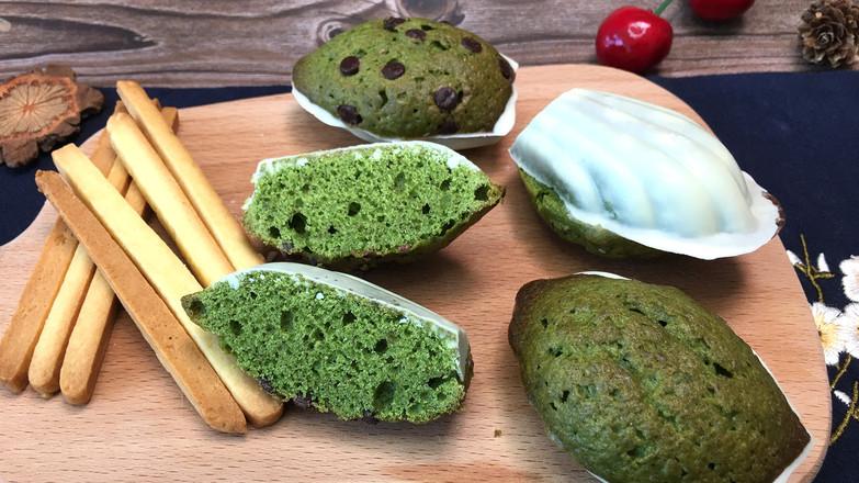 抹茶玛德琳,浓郁黄油香气,焦黄酥脆外壳。的制作方法