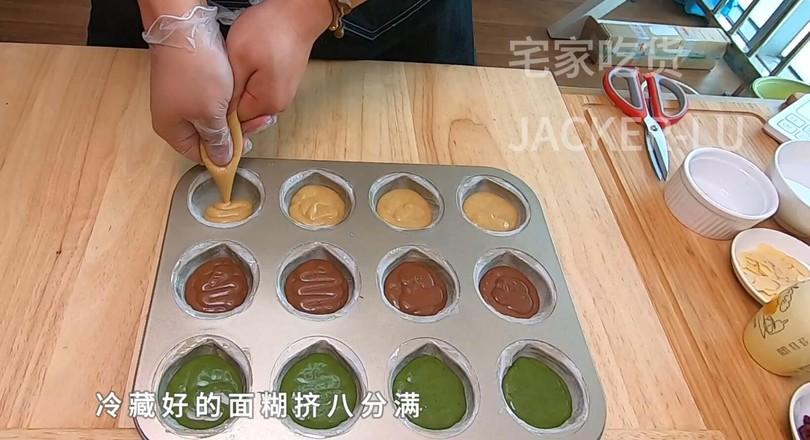 三色栗子玛德琳,浓郁黄油香气小甜品。怎样做