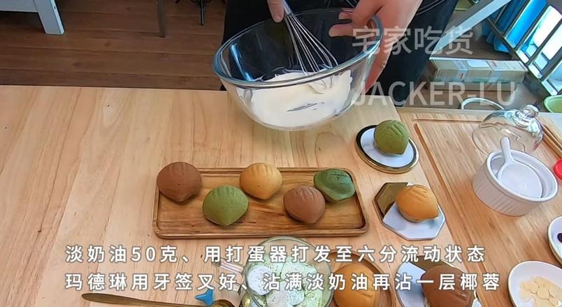 三色栗子玛德琳,浓郁黄油香气小甜品。的制作