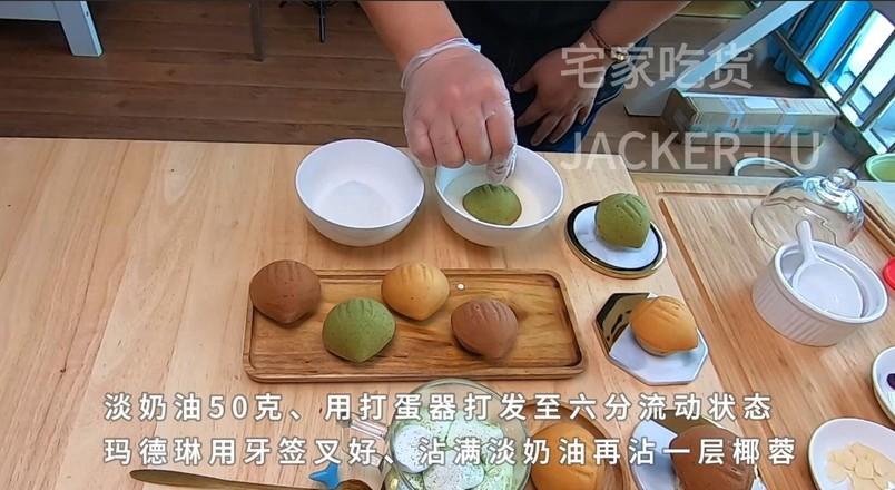 三色栗子玛德琳,浓郁黄油香气小甜品。的制作方法