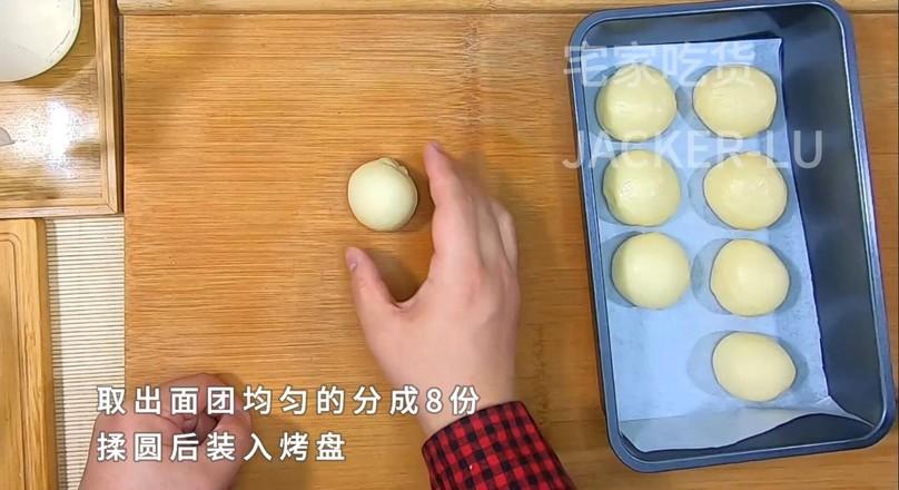 奶油小餐包,一次发酵法,简单又快手!怎么吃