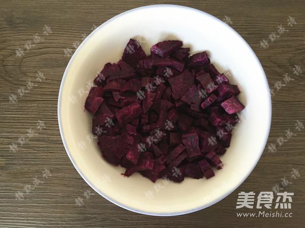 牛奶紫薯发糕的做法图解