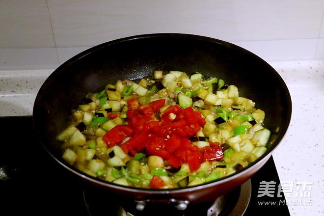 茄子肉丁打卤面怎么吃