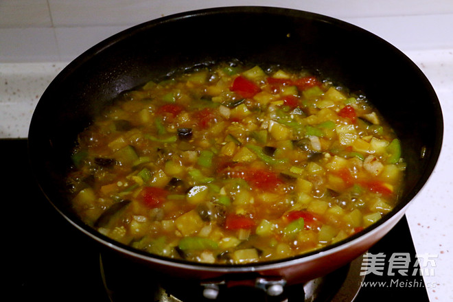 茄子肉丁打卤面怎么煮