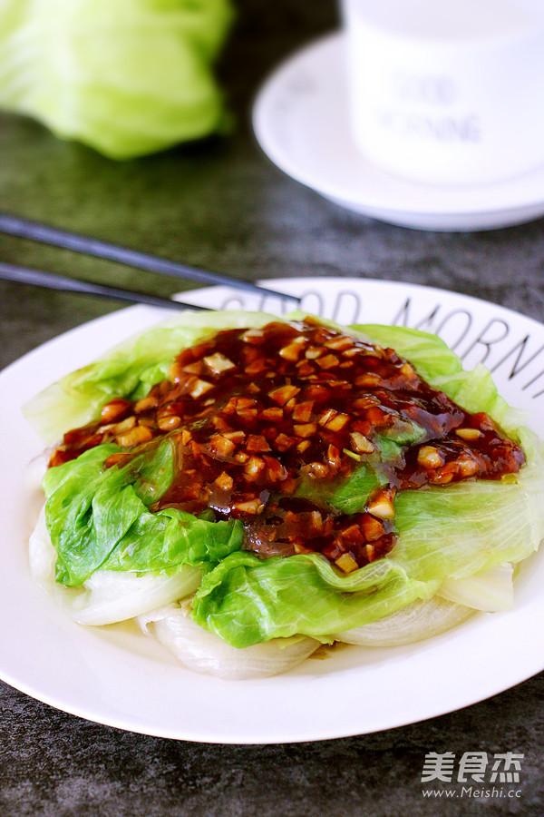 蚝油蒜蓉生菜成品图