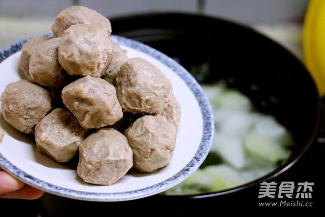 牛肉丸冬瓜汤的简单做法