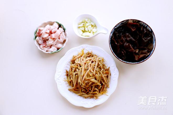 黄花菜木耳炒肉的做法大全