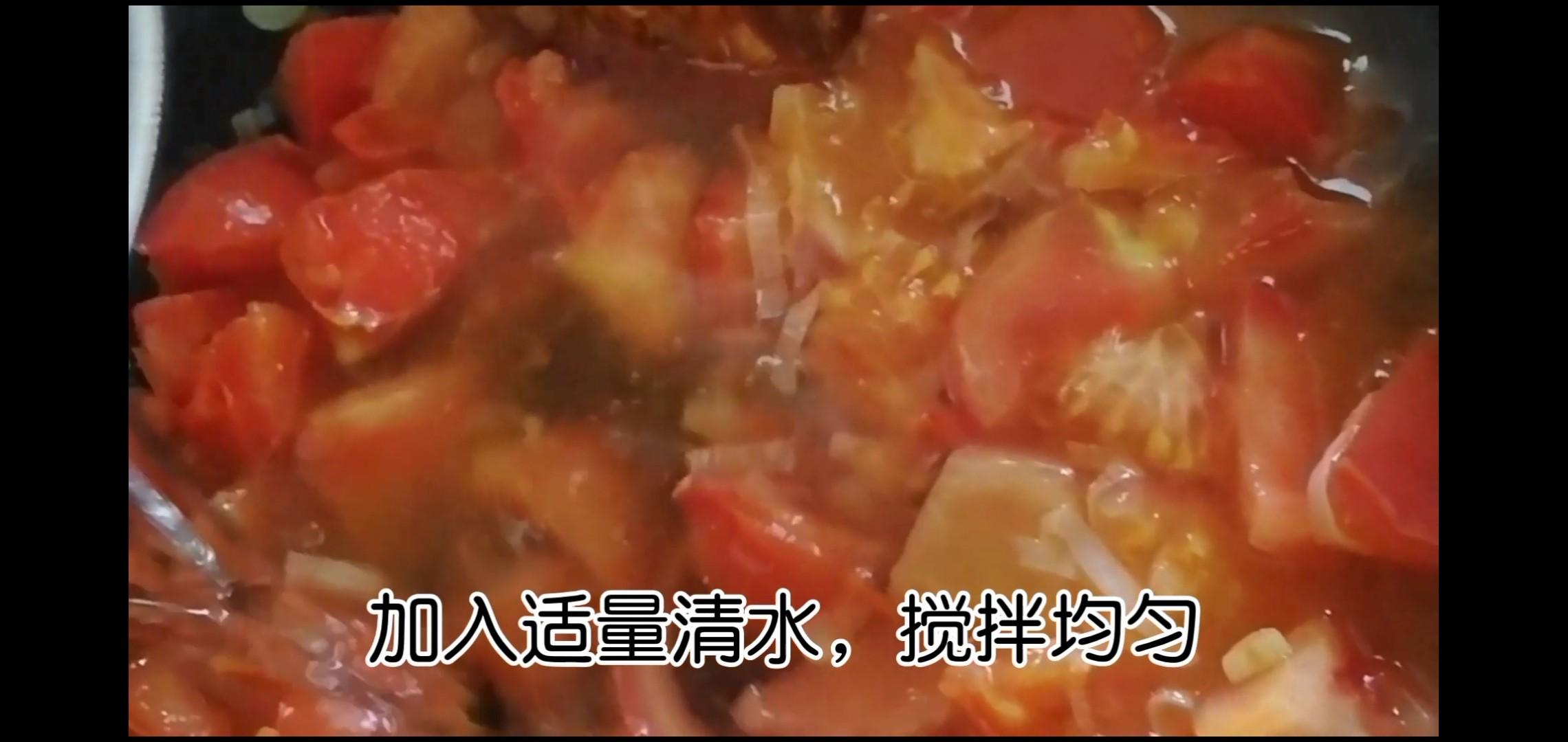 番茄土豆酱蛋面怎么做
