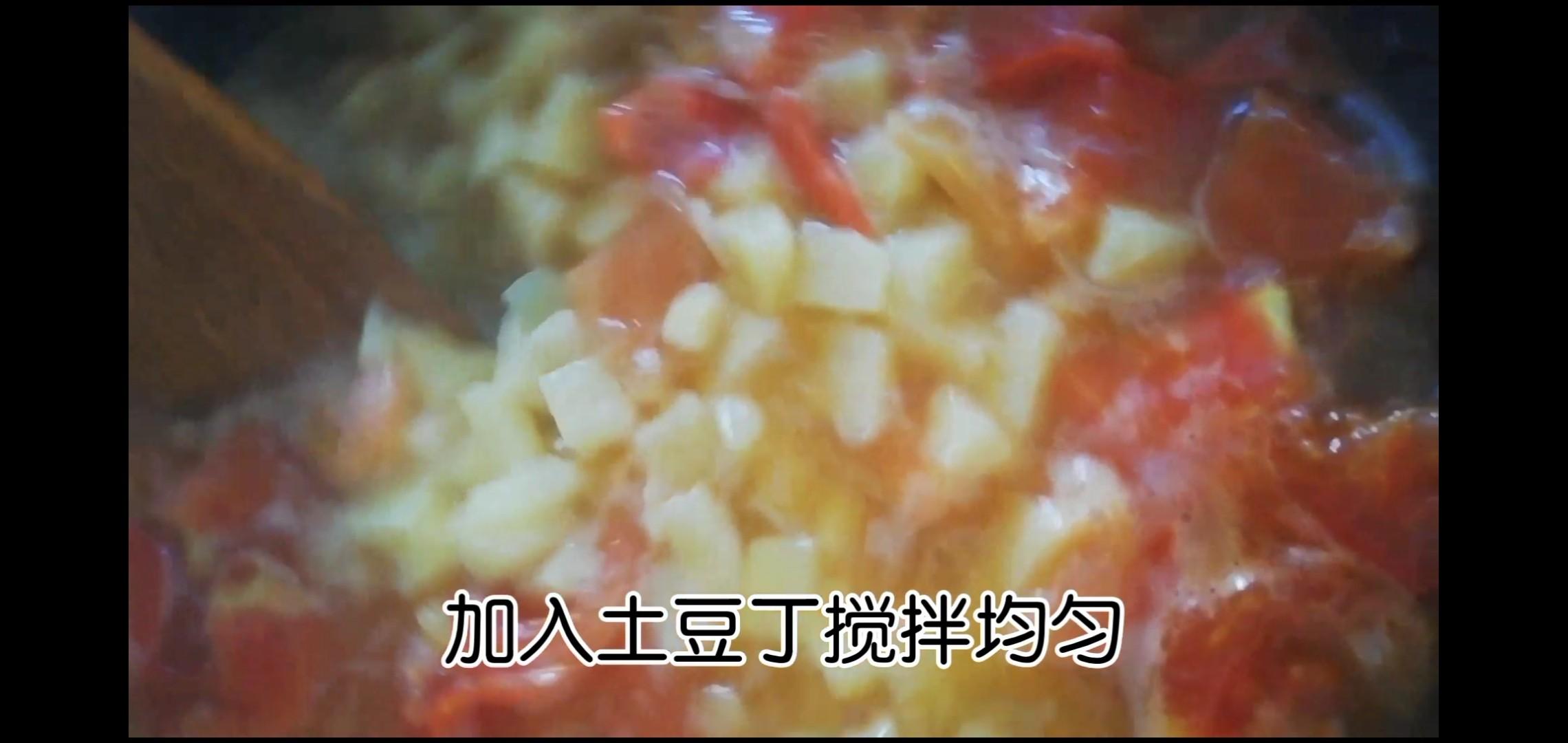 番茄土豆酱蛋面怎么炒