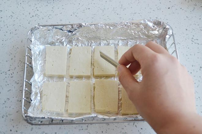 香辣酱油烤豆腐的家常做法
