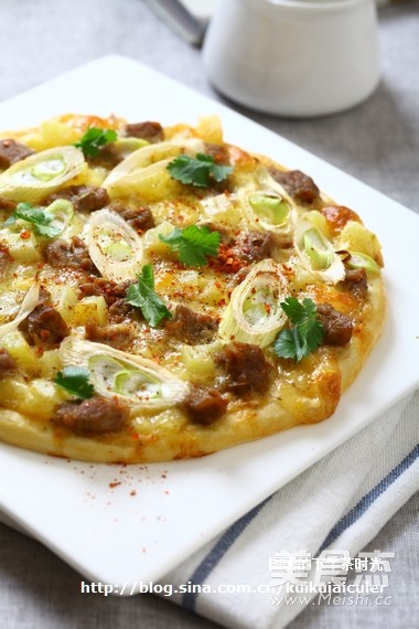孜然羊肉披萨怎么做