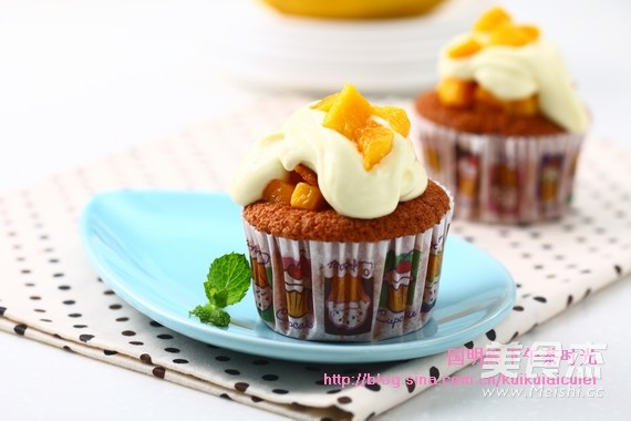 芒果杯子蛋糕的步骤