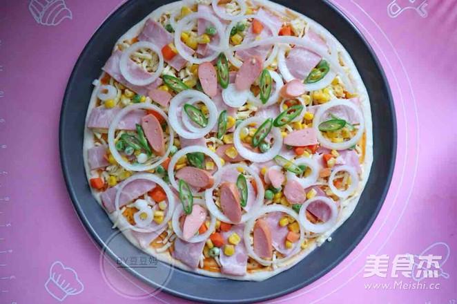 12寸培根田园披萨怎么煮